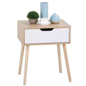 Wood modern nightstand with drawers