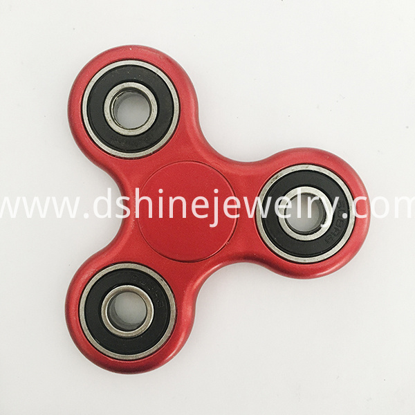red metallic spinner