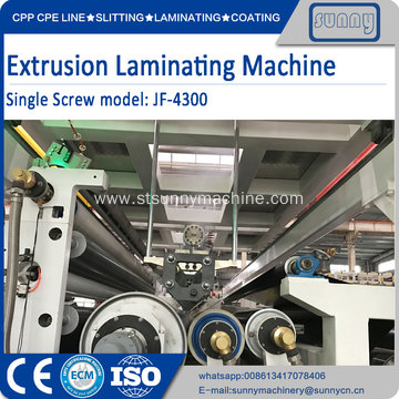 Best Quality for Extrusion Pu Coating Fabric Machine TPU extrusion laminating machine export to Spain Manufacturer