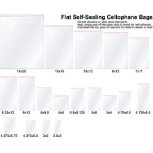 Flat self-sealing clear cello bags