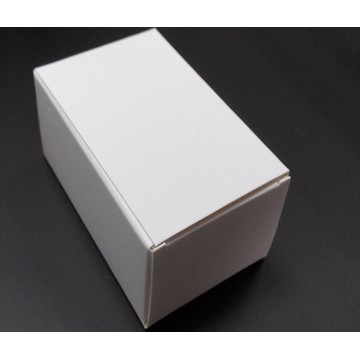 Small white cardboard handmade soap paper box