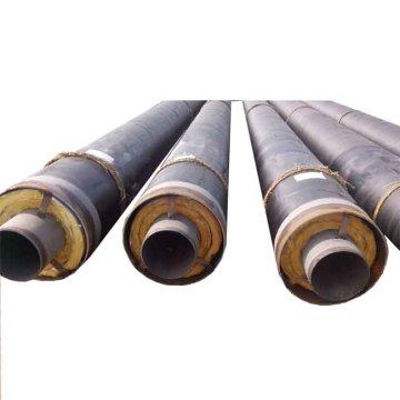 Steel insulation pipe with steel sheath