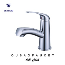 Hot And Cold Water Pullout Sprayer Basin Faucet