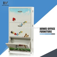 Steel worker 3 Compartment Shoe Lockers Cupboard