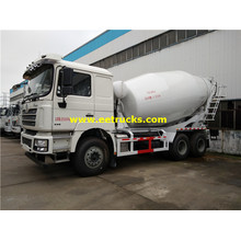 3000 Gallons SHACMAN Used Concrete Mixer Trucks