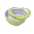 Heart Shape Candy Tin Box with PVC Window