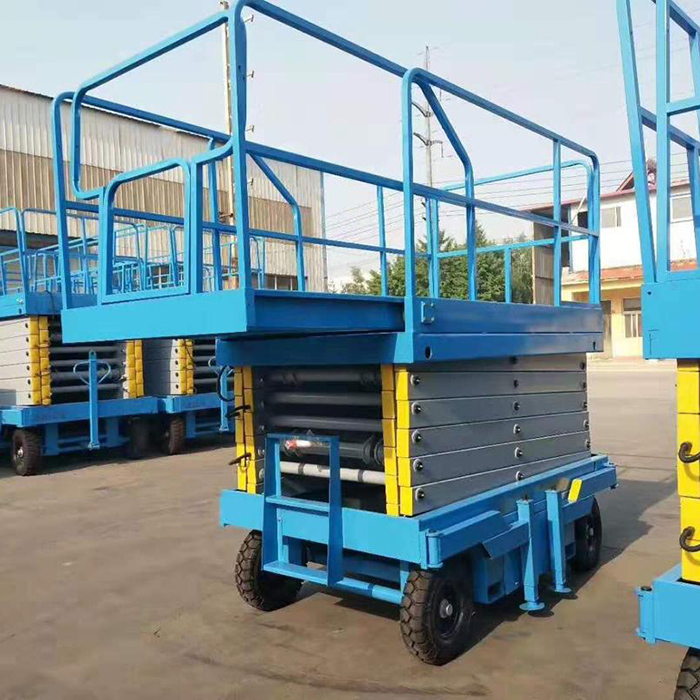 300kg 18m mobile scissor lift platform with extend deck