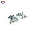 Stainless steel personalised measuring scale cuff links