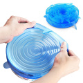 6pcs Reusable food Cover Silicone Stretch Lids