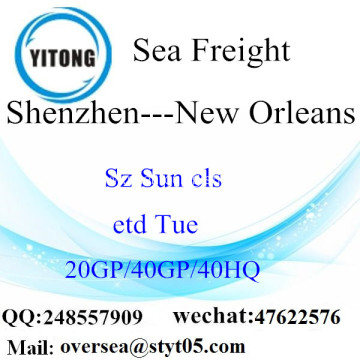 Shenzhen Port Sea Freight Shipping To New Orleans