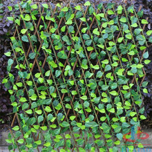 Garden Yard Artificial Fence With UV Proof Leaves