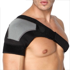 Breathable shoulder support baddage strap pads