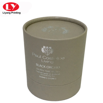 Luxury medium gray round box