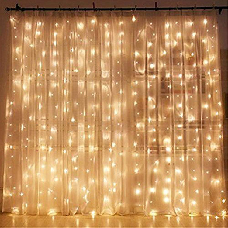 curtain light christmas