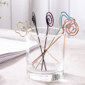 Colorful Fruit Fork Stainless Steel Fruit Needle