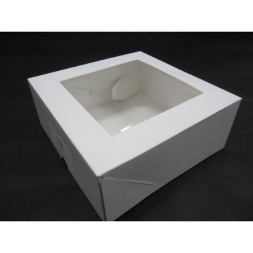 plain white packaging paper cake box