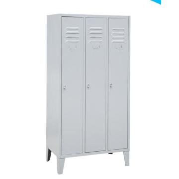 Steel 3 door locker with feet for school