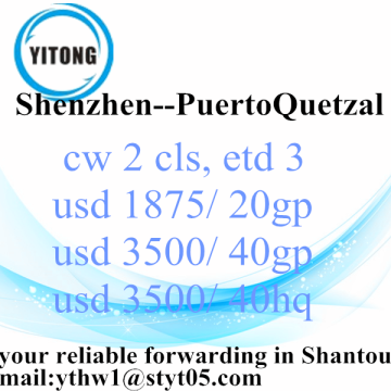 Sea Freight Services from Shenzhen to Puerto Quetzal
