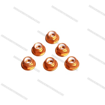 Custom Nylon Nut Aluminum 7075 Nut Orange