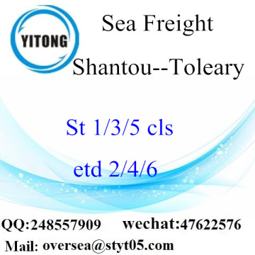 Shantou Port LCL Consolidation To Toleary