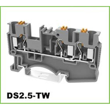 2.5mm2 1 in 2 out DIN-Rail Terminal Block