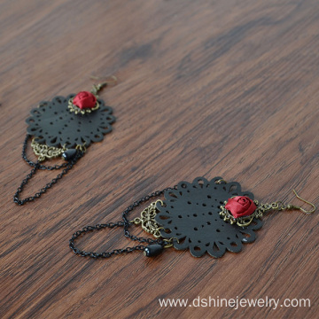 Handmade Tassels Black Lace Earrings For Women Wholesale