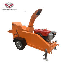 Low price for Diesel Wood Chipper Diesel engine mobile wood shredder for branches export to Uzbekistan Wholesale