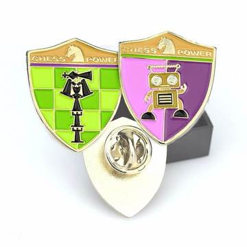 Тӯҳфаи яклухтфурӯшии Gold Gold Metal Lapel Pin Badge