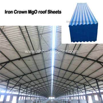 Fire Prevention Heat-Resistant PET MgO Roofing Sheets