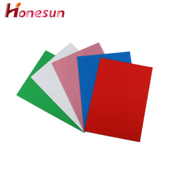 0.4mm thickness of A4 colorful soft rubber magnet