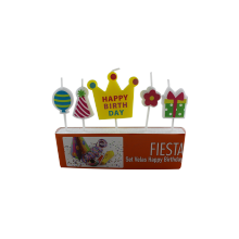 Various Styles Bright In Color Cartoon Birthday Candle