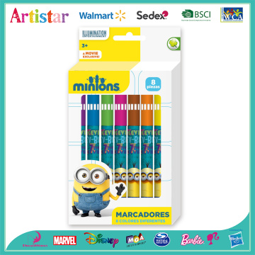 Minions 8 color box with water color markers