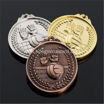 3D metal volleyball  medals
