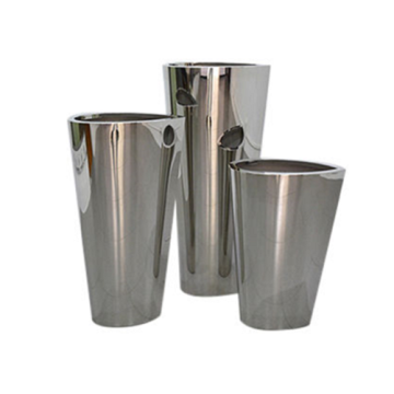 Stainless Steel Trough Planter Flowerpot