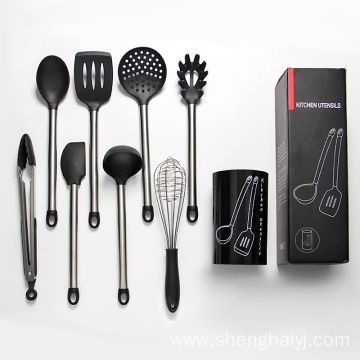 8pcs silicone kitchen utensil set