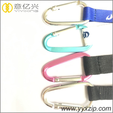 sublimation short lanyard black carabiner key chain