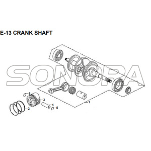 E-13 CRANK SHAFT for XS175T SYMPHONY ST 200i Spare Part Top Quality