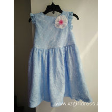 ODM for Bridesmaid Dresses Blue lace for Young Children Girl supply to Netherlands Antilles Factory