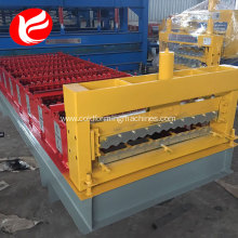 Best Price for Corrugated Wall Panel Roll Forming Machine Color corrugated steel sheet hydraulic roof panel rolling machine supply to Ghana Factory
