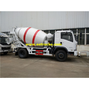 3ton 4x2 Used Concrete Mixing Trucks