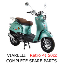Viarelli Retro 4t 50cc Scooter Part Complete Parts