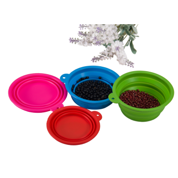 BPA Free Travel Bowl Folding Silicone Dog Bowls