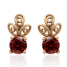 Red Crystal Gold Earrings For Women ​