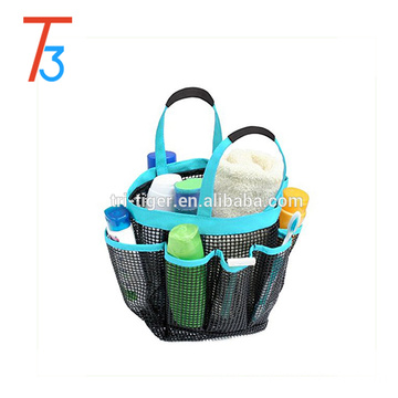 8 pocket shower caddy & travel mesh bag