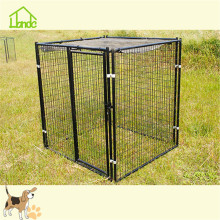 Large black welded pet dog runs dog kennel