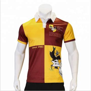 custom fitness soft comfortable Rugby shirt