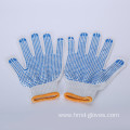 Cheap Knitted PVC Dots Cotton Glove