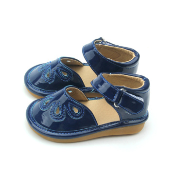 Most Popular Durable Navy Blue Baby Squeaky Shoes