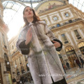 Lady Reversible Cross Mink Fur Overcoat