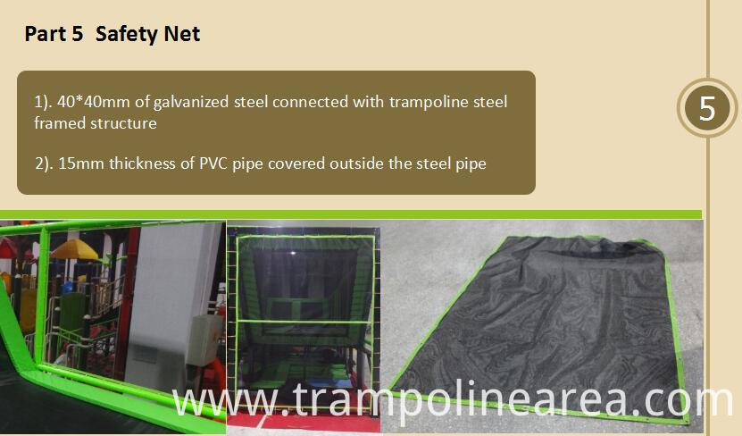 safety net of launch trampoline park